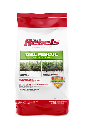 The Rebels Tall Fescue Grass Seed Blend Powder Coated 36ea/7 lb