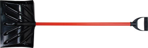 Ames Snow Shovel Poly D-Top Steel Handle Red 6ea/16 in