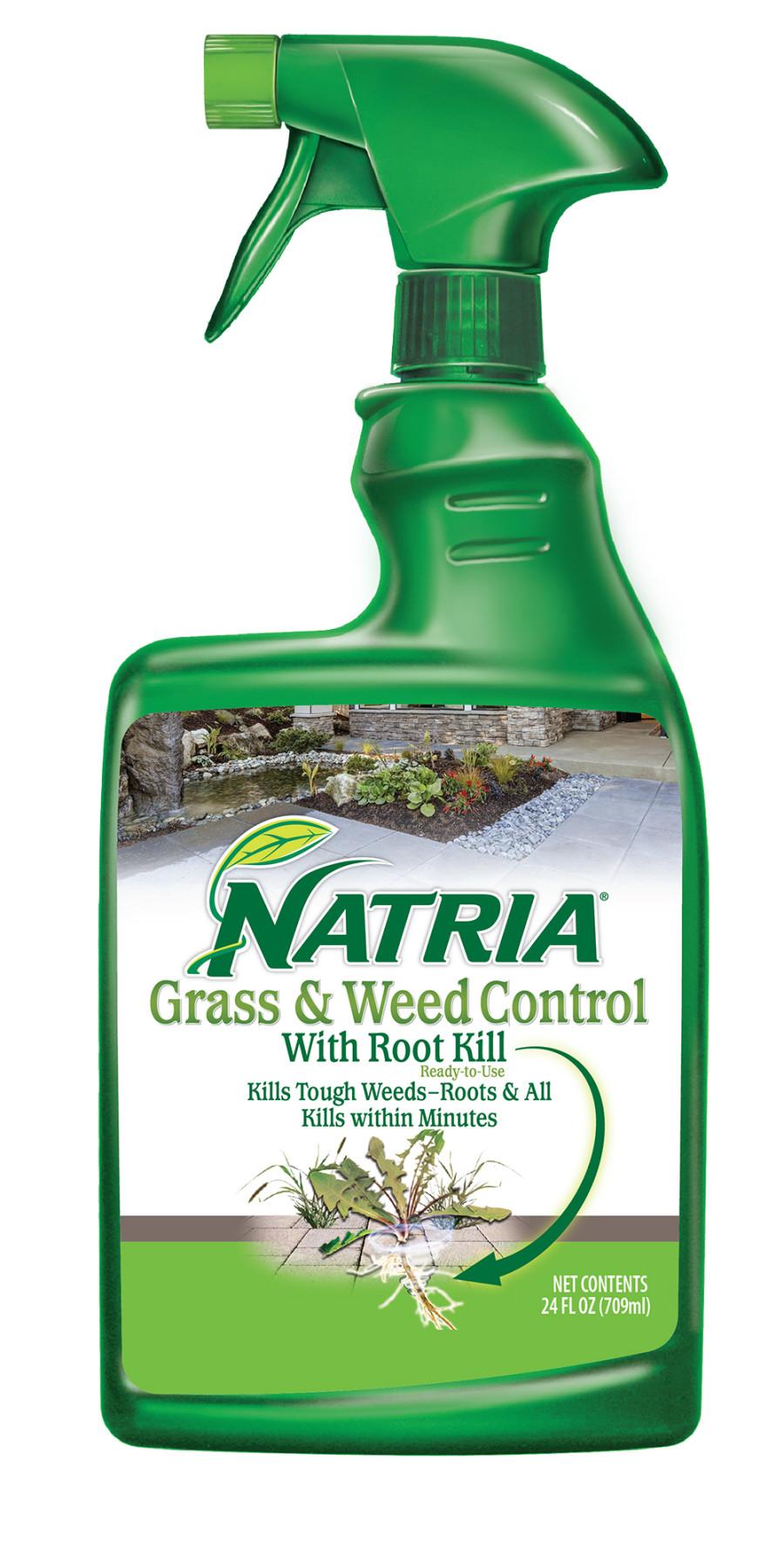 BioAdvanced Natria Grass & Weed Control w/Root Kill Ready to Use Sprayer Green Bottle 4ea/24 oz