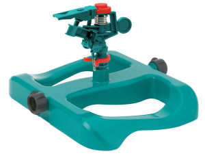 Gilmour Circular Impulse Sprinkler with Base Poly Green 6ea/Large