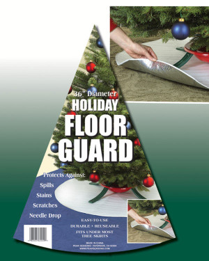 Peak Seasons Holiday Floor Guard Silver 24ea/36 in