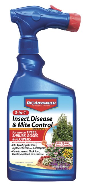BioAdvanced 3-in-1 Insect, Disease & Mite Control Imidacloprid Ready to Spray 8ea/32 fl oz