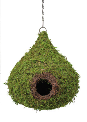 Supermoss Raindrop Woven Birdhouse Fresh Green 6ea/10Inx13 in