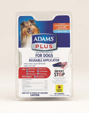 Adams Plus Flea & Tick Spot On Dog 3 Month with Applicator 1ea/Medium