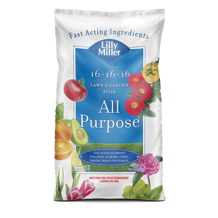 Lilly Miller All Purpose Lawn & Garden Food 16-16-16 1ea/20 lb