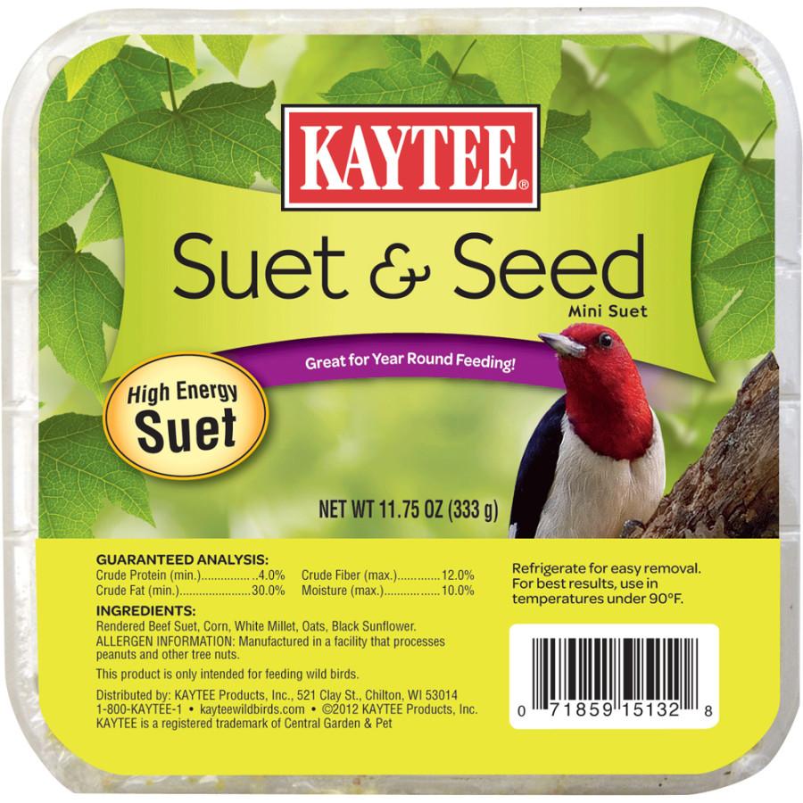 Kaytee Suet & Seed High Energy Mini Suet 12ea/11.75 oz