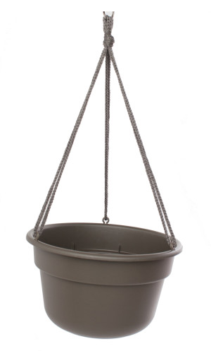 Bloem Dura Cotta Hanging Basket Planter Peppercorn 12ea/12 in