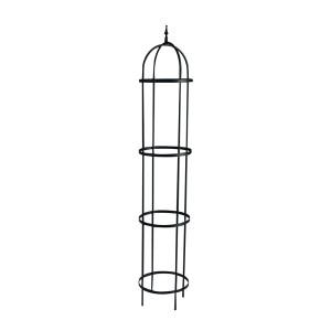 Panacea Rose Tower Obelisk Black 1ea/60 in