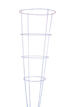 Midwest Wire Works Tomato Cage 4-Leg 4-Ring Heavy-Duty 16in Top Ring Galvanized 25ea/54 in