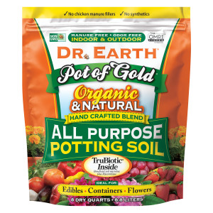Dr. Earth Pot of Gold Premium All Purpose Potting Soil 4ea/8 qt