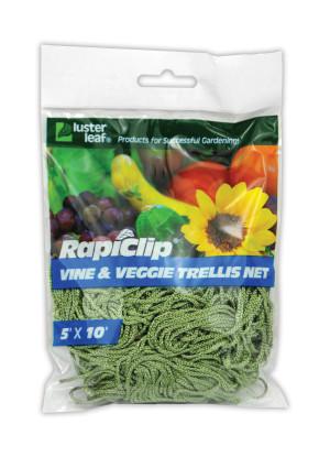 Luster Leaf Rapiclip Vine And Veggie Trellis Net Green 12ea/5Ftx10 ft