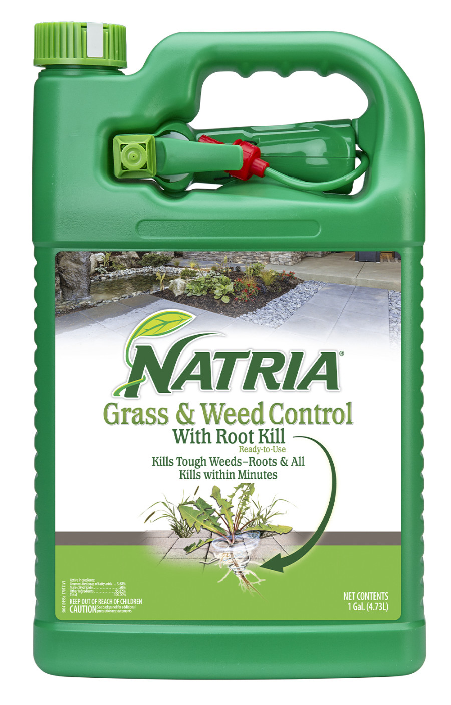 BioAdvanced Natria Grass & Weed Control w/Root Kill Ready to Use Nested Sprayer Green Bottle 4ea/1 gal