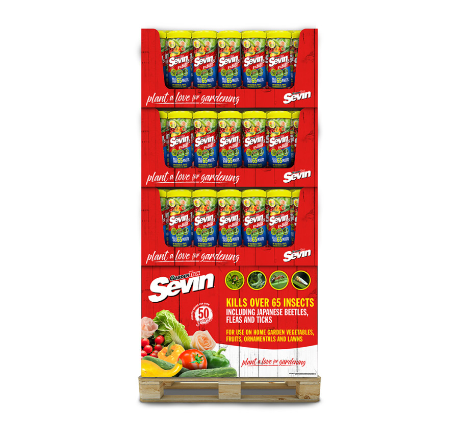 Sevin 5% Dust Insect Killer Shaker Bottle Quarter Pallet 72ea/1 lb