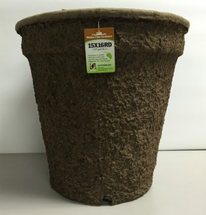 Western Pulp Molded Fiber Round Nursery Container Green 12ea/15Inx16In 7.97 gal