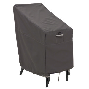 Classic Accessories Ravenna Patio Table & Chair Set Cover Stackable Chair Taupe 2ea/One-Size