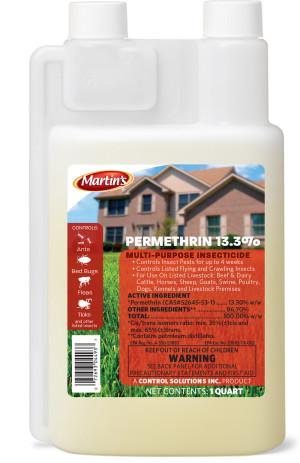 Control Solutions Martin's Permethrin 13.3% Multi-Purpose Insecticide Concentrate 12ea/32 fl oz