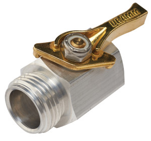 Dramm Aluminum Shut-off Valve Made in the USA Multi-Color 6ea