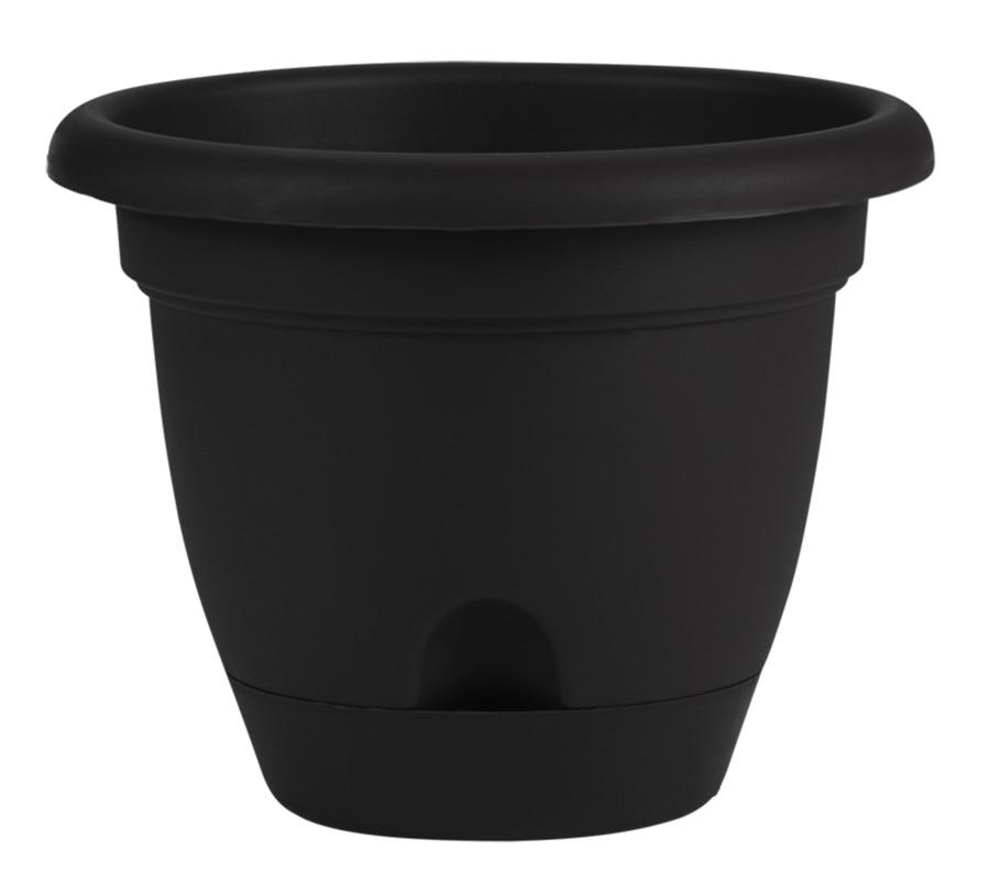 Bloem Lucca Planter Black 12ea/8 in