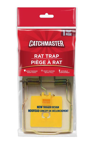 Catchmaster Rat Snap Trap Wood Yellow 12ea/Single pk