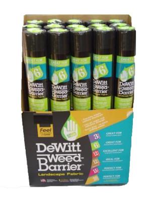 DeWitt 6-Year Weed-Barrier Landscape Fabric Black 32ea/3Ftx50 ft