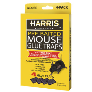 Harris Mouse Glue Traps Pre-Baited 24ea/4 pk