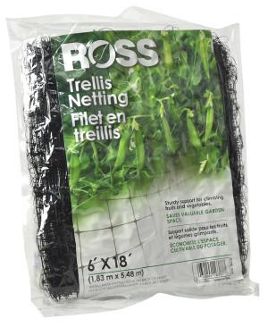 Ross Trellis Netting Plant Support Black 12ea/6Ftx18 ft