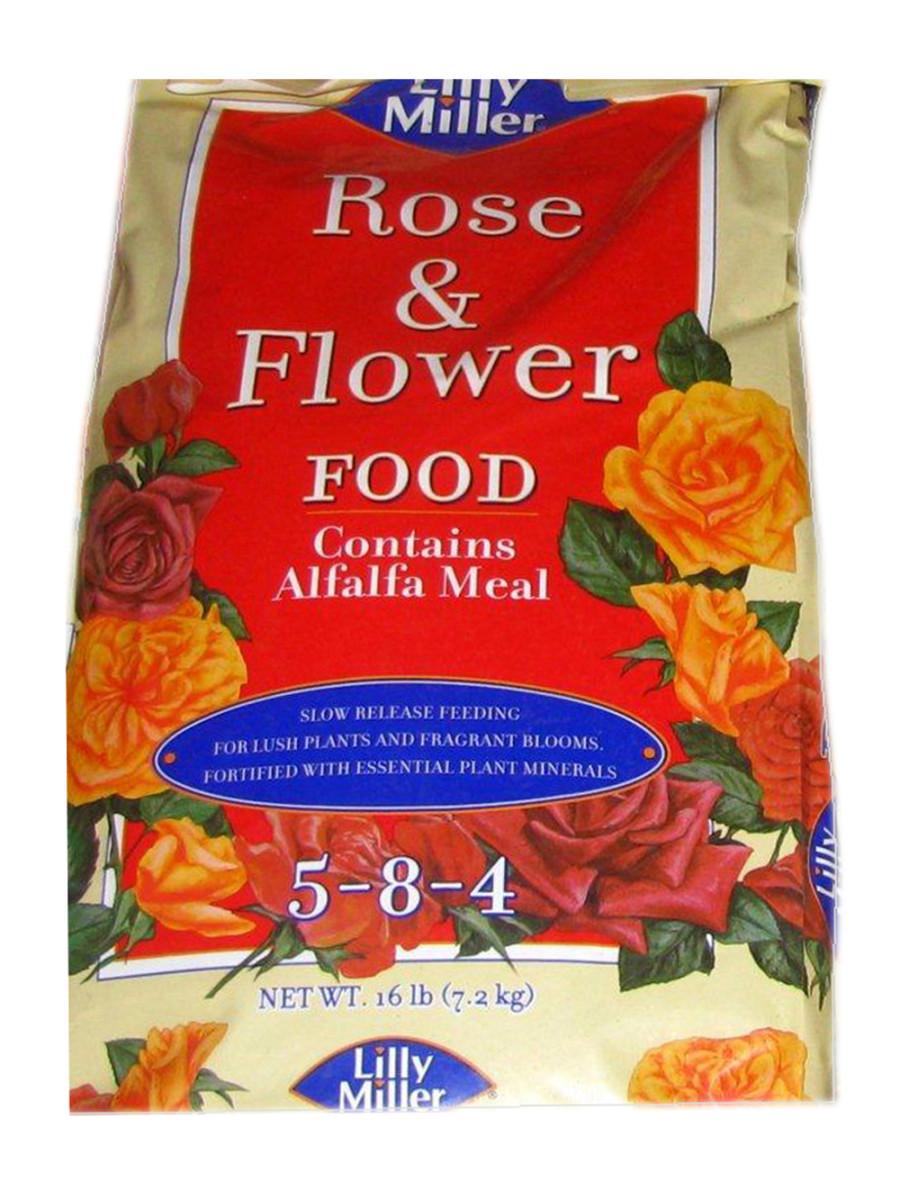 Lilly Miller Rose & Flower Food 5-8-4 1ea/16 lb