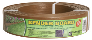 Valley View Bender Board Coil With Metal Stakes Light Brown 4ea/3 In X 40 ft