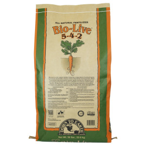 Down To Earth Bio-Live Natural Fertilizer 5-4-2 with Myco OMRI 1ea/50 lb