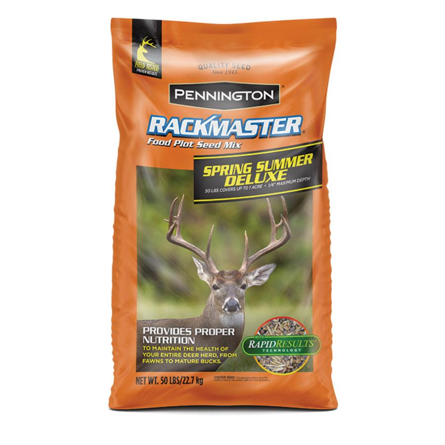 Pennington Rackmaster Spring Summer Deluxe Food Plot Seed Mix 1ea/50 lb