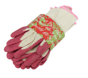 Boss Flex Grip Latex Palm Strong Knit Glove Pink 3ea/Large 3 pk