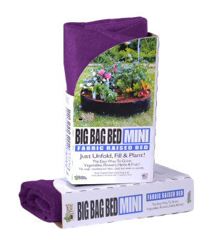 High Caliper Fabric Raised Bed Big Bag Purple Mini Pallet 1ea/24Inx8 in