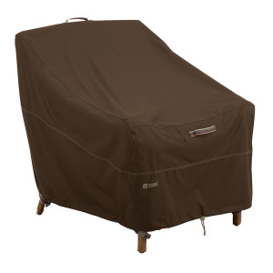 Classic Accessories Madrona Rainproof Deep Seated Cover Lounge Chair Dark Cocoa 3ea/38 in