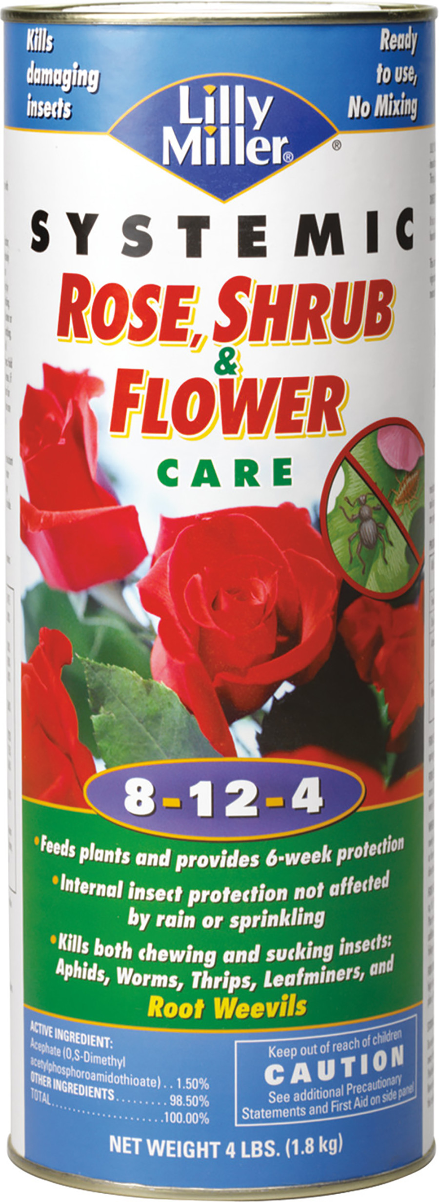 Lilly Miller Systemic Rose Shrub & Flower Care 8-12-4 6ea/4 lb