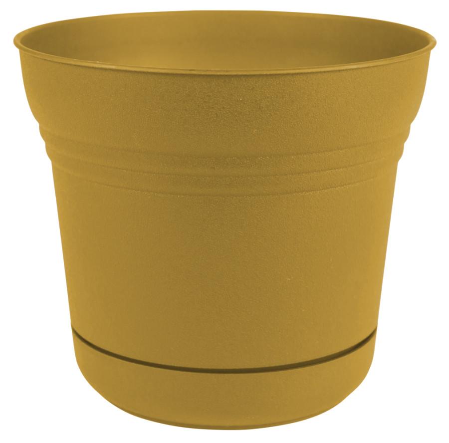 Bloem Saturn Planter Earthy Yellow 6ea/12 in