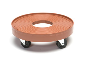 DeVault Plant Dolly with Hole Terra Cotta 8ea/12 in