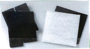 Danner Pondmaster Replacement Pads Filter Media Carbon & Coarse Black, White 6ea/12 In. X 12 in