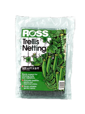Ross Trellis Netting Plant Support Black 24ea/6Ftx8 ft