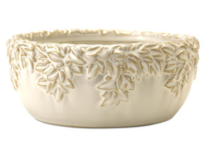 New England Pottery Ivy League Dish Garden Moonstone 4ea/10 in