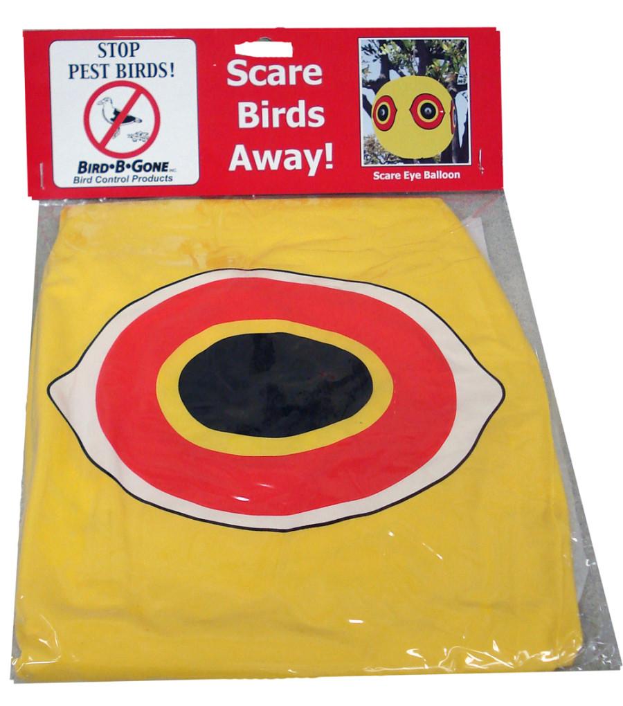 Bird-B-Gone Scare Eye Balloon Yellow 12ea/0.25 In (D) X 8.5 In (W) X 11 In (H)
