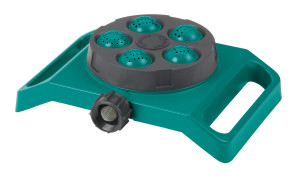 Gilmour Stationary 5-Pattern Sprinkler Turret Green 6ea/Small