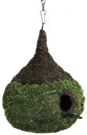 Supermoss Raindrop Woven Birdhouse Fresh Green 6ea/9.5Inx10.5 in