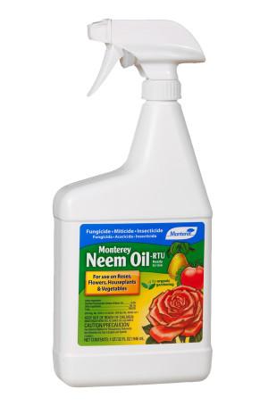 Monterey Neem Oil Fungicide Insecticide Miticide Ready to Use Organic 12ea/32 fl oz
