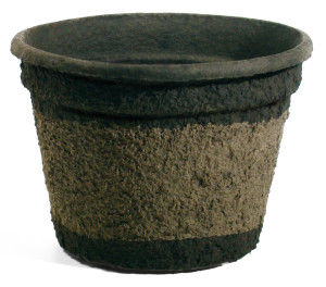 Western Pulp Molded Fiber Round Nursery Container Green 8ea/21Inx16In 16.11 gal