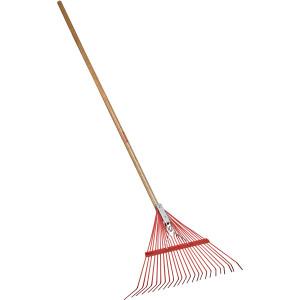 Corona Spring Brace Rake with Wood Handle 22in Fan Shaped Head 12ea/24 in