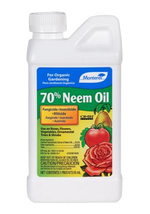 Monterey 70% Neem Oil Fungicide Insecticide Miticide Concentrate Organic 6ea/16 fl oz