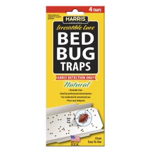 Harris Bed Bug Traps Irresistible Lure Natural 15ea/4 pk
