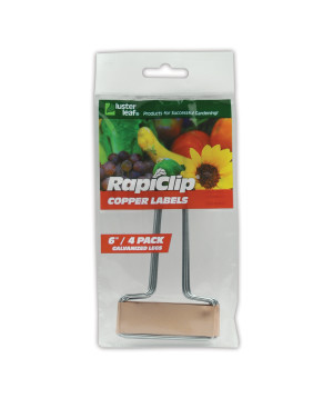 Luster Leaf Rapiclip Copper Labels Galvanized Legs Brown 12ea/4Pk 6 in