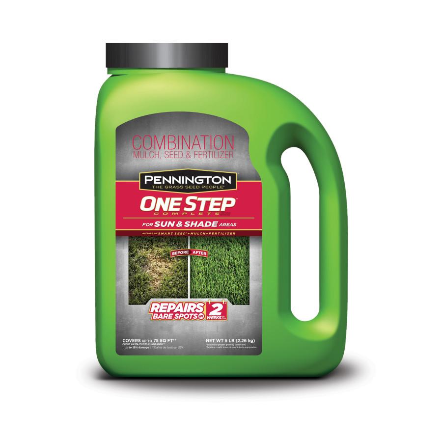 Pennington One Step Complete Sun & Shade Mulch Grass Seed & Fertilizer 4ea/5 lb