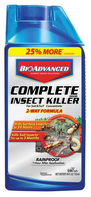 BioAdvanced Complete Insect Killer for Soil & Turf Brand Concentrate 8ea/40 oz